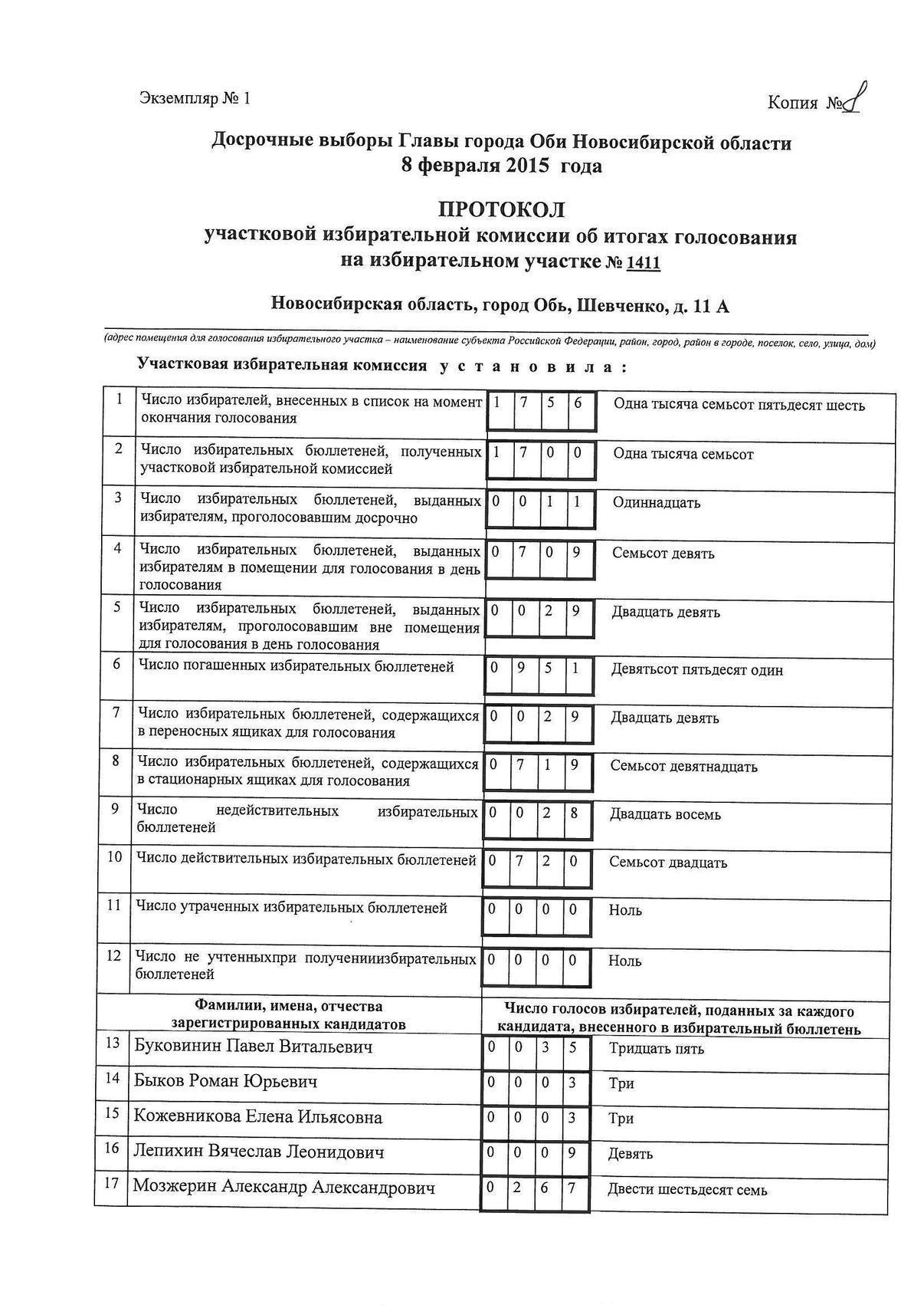 УИК №1411_1