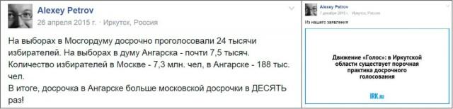 что в процентах досрочное голосование в Ангарске в 10 раз больше, чем в Москве.