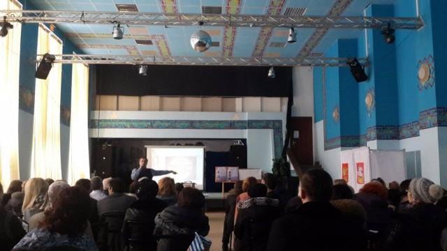 Господин Кудрявин  проводит обучение членов УИК 27 января. Фото сделано слушателем лекции