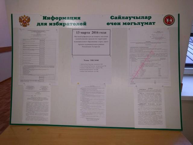 УКР 940, информационный стенд