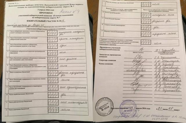 Копия протокола УИКа №2018, Александр Грезев
