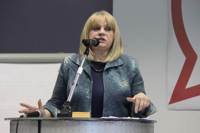 Выступление Эллы Памфиловой на Форуме общественных наблюдателей Фото: А.Мусин